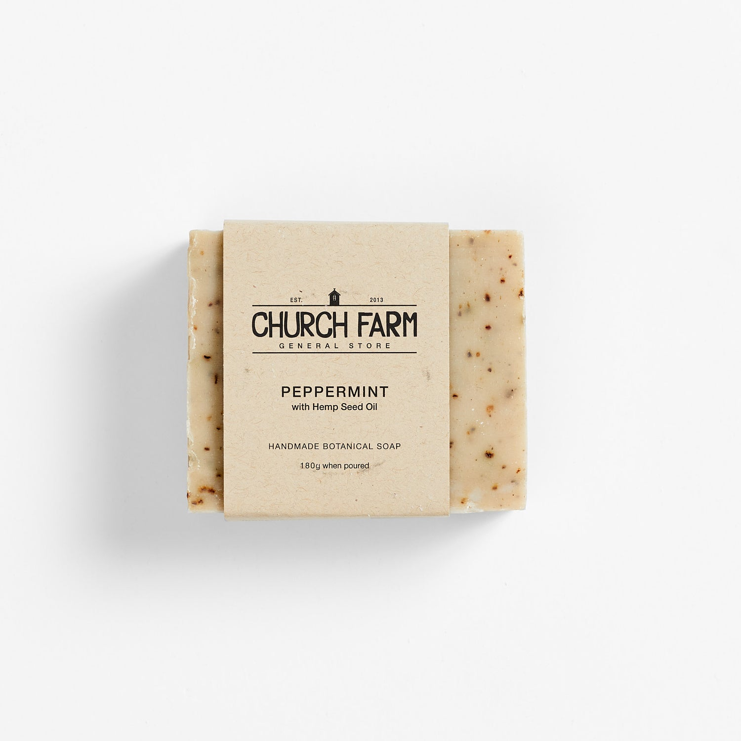 Church Farm Botanical Soap - Peppermint & Hemp Seed Oil