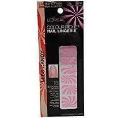 3 Pack- L'Oreal Colour Riche Nail Lingerie Nail Stickers #709 Princess Sprinkles