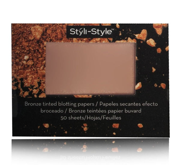 Styli-Style Bronze Tinted Blotting Papers Radiant