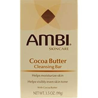 [AMBI] COCOA BUTTER CLEANSING BAR HELPS MOISTURIZE SKIN 3.5OZ