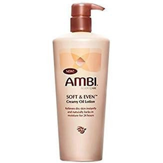 Ambi Soft & Even Creamy Oil Lotion 12oz Pump (2 Pack)