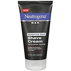Neutrogena Men Shave Cream, Sensitive Skin - 5.1 fl