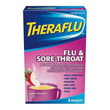 Theraflu Powder for Flu and Sore Throat, Apple Cinnamon (6 packets)