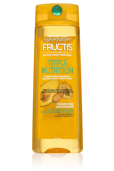 Garnier Fructis Triple Nutrition Shampoo, Dry to Very Dry Hair, 12.5 fl. oz.