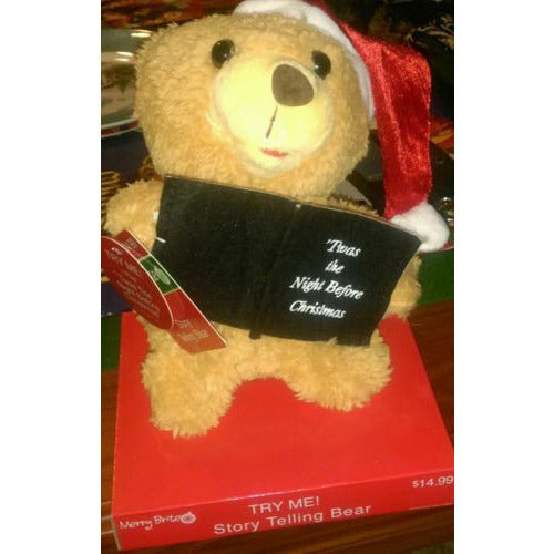 Merry Brite Story Telling Teddy Santa Bear  Night Before Christmas - Oh!Dreamy™ Online Store  - 1