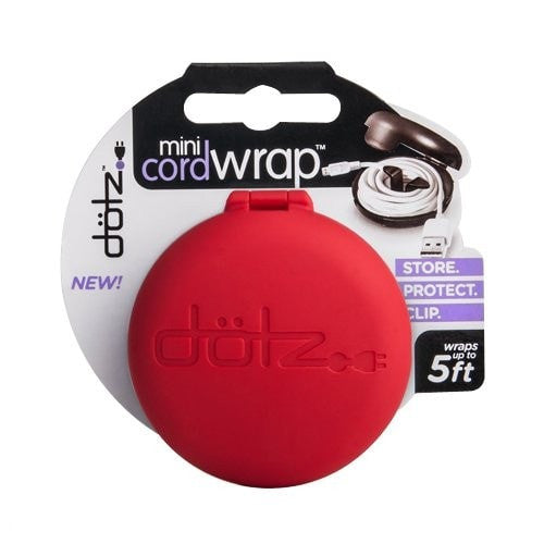 Dotz Mini Cord Wrap for Cord and Cable Management, Red (MCW32M-CR)