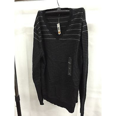 Alfani Black Casual V-Neck Top Sweater, Size Small