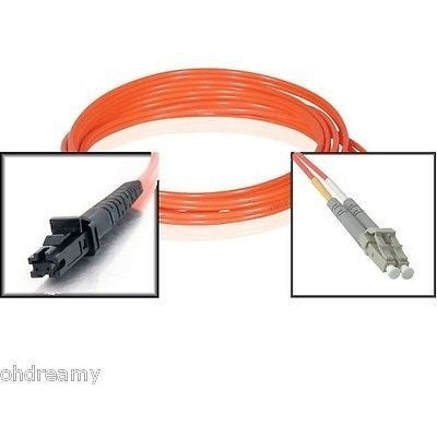 30Ft (9M) MTRJ To LC Duplex 62.5/125 Multimode Fiber Optic Patch Cable Orange