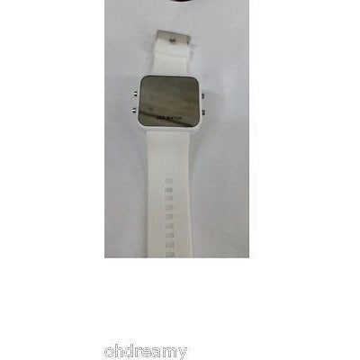 Led Watch With Silicone Band - White