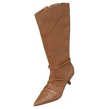 White Mountain W1442 Betina Leather Womens Boots Rust Brown Size 6