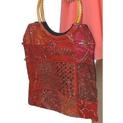 Lakhay'S Collection Embellished Shoulder Bag Womens Purses Red ~