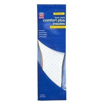 Rite Aid Insoles, Comfort Plus, Men'S, One Size Fits All, 1 Ct