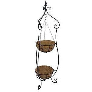 Null Iron Double Basket Hanger Stand With Coco