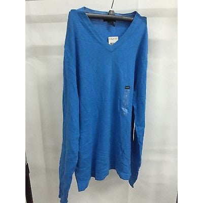 Alfani Blue Casual V-Neck Top Sweater, Size Small