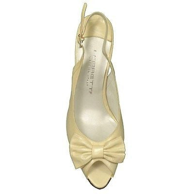 Ferretti 951 Capreto Slingback Leather Womens Shoes Beige