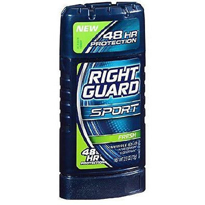 Right Guard Sport Invisible Solid, Fresh, 2.6-Ounce