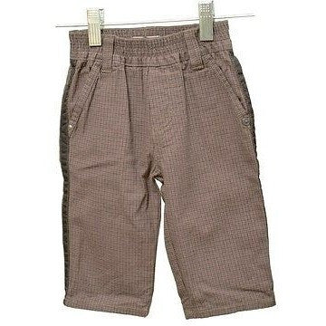 Jean Bourget Boys Pull On Plaids Babys Pants Brown Size 6M