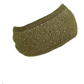 Cc Embellished Knit Headband Womens Hats Green One Size ~