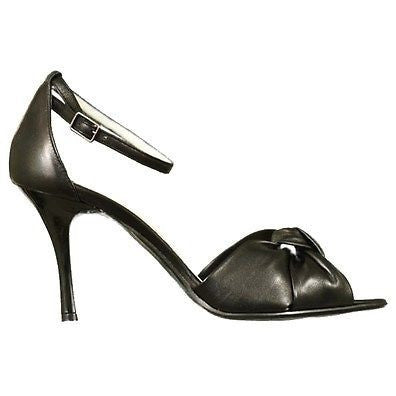 Ferretti 954 Nappa Leather Ankle Strap Sandals Womens Shoes Black