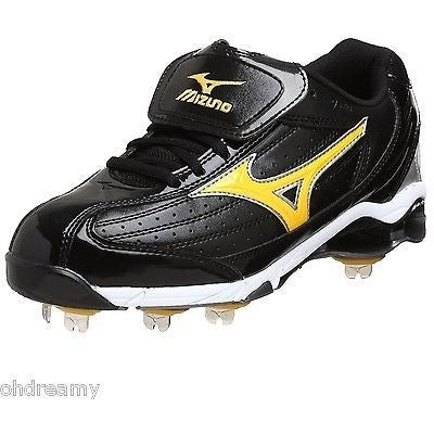 Mizuno Men'S 9 Spike Classic G5 Low Baseball Cleat Black/Gold 14 M