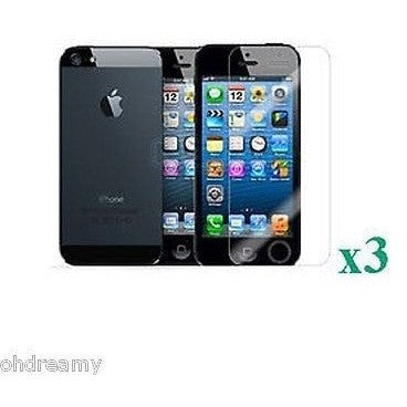 3X Anti-Glare Lcd Screen Protector Film Guard W/ Cloth For Iphone 5 5S