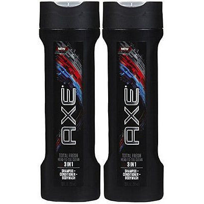 Axe 3 In 1 Shampoo + Conditioner + Body Wash - Total Fresh - Net Wt. 12 Fl Oz