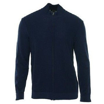 Alfani Men'S Ribbed Mock Turtleneck Jacket Blue Indigo L   Msrp $69.00