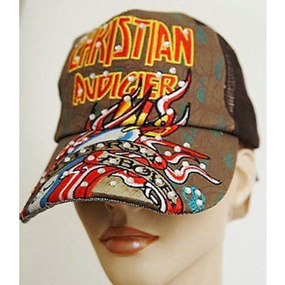 Christian Audigier Death From Womens Hats Brown Os