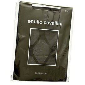 Emilio Cavallini Large Jacquard 206212 Tights Womens Hosiery Black Size S M