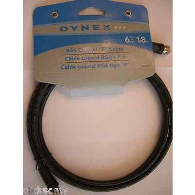 Dynex Dx-Av081 - Rf Cable - F Connector (M) - F Connector (M) - 6Ft Damaged Pack - Oh!Dreamy™ Online Store