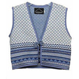 Kootenay Knit Winter Girls Childrens Vests Blue Multi Size L - Oh!Dreamy™ Online Store  - 1