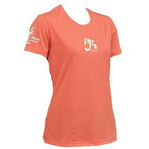 Brooks 22028 Ez Girl Power S/S Womens T Shirts Winter Poppy Pink Size Xs