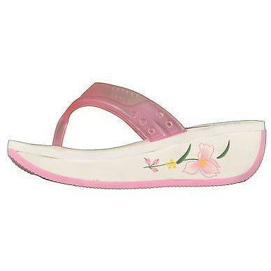 Alberto Casti E60428 Clear Thong Sandals Childrens Shoes Pink Size 6.5