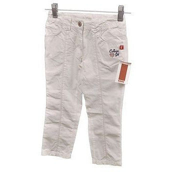 Kanz Girls College Girl Skinny Leg Baby Pants White Size 3Y