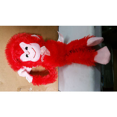 Plush Hanging Monkey Red - Oh!Dreamy™ Online Store