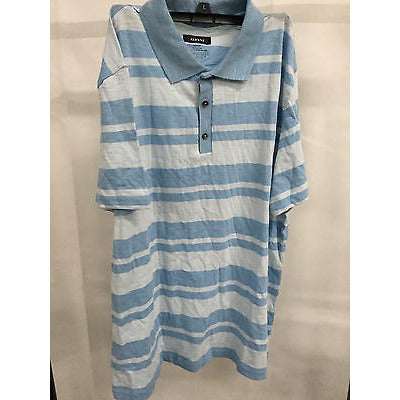Alfani Blue Summer Top Polo Shirt T-Shirt, Size L