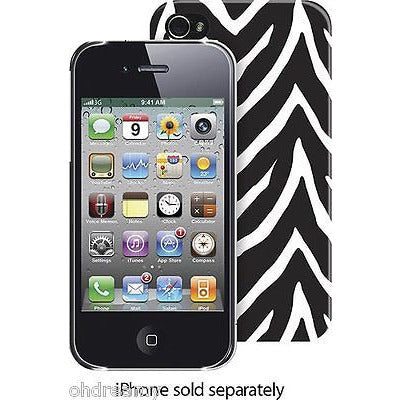 Case For Iphone 4/4S  - Black Zebra
