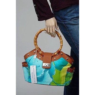 Hollywould Hibiscus Tote Womens Purse Capri Multi