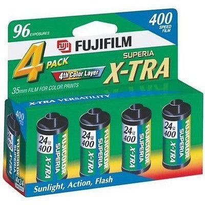 Fujifilm 1014258 Superia X-Tra 400 35Mm Film - 4X24 Exp, (Discontinued By Manuf - Oh!Dreamy™ Online Store