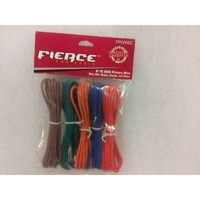 Fierce Audio Primary Wires 5-Pack 6' 18 Awg Primary Wire