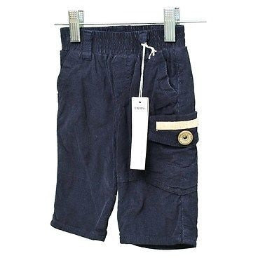 Ikks Boys Pull On Corduroys Babys Pants Navy Blue Size 3M