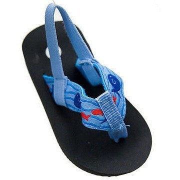 I Play Flip Flops Thongs Toddler Childrens Shoes Blue Size 4 / 20
