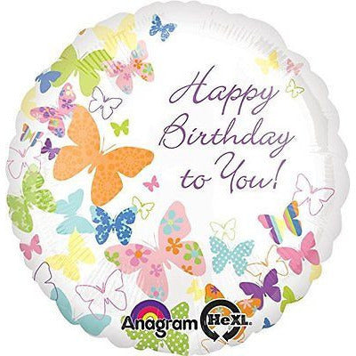 "Anagram International Birthday Butterflies Balloon, 18"", Multicolor - Oh!Dreamy™ Online Store"