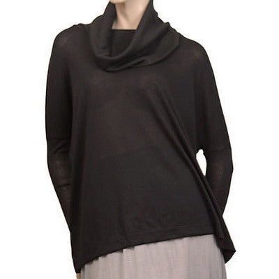 Lush Cowl Neck L/S Womens Sweaters Black Size S ~