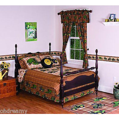John Deere Bedding Traditional Tractor And Plaid Collection Bed Skirt, Queen - Oh!Dreamy™ Online Store  - 1