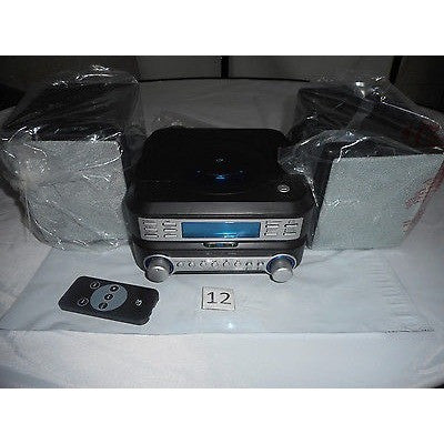 Gpx Mini Cd, Clock, Radio System In Black