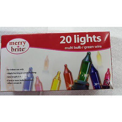 Dettagli Merry Brite 20 Lights Multi Bulb / Green Wire - Oh!Dreamy™ Online Store  - 1
