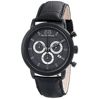 88 Rue Du Rhone Men's 87WA130017 Analog Display Swiss Quartz Black Watch