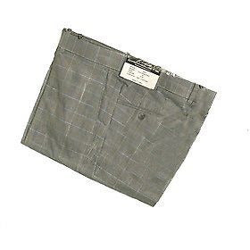 Carnoustie 5693 Plaid Palmer Slacks Mens Pants Pewter Gray Size 34