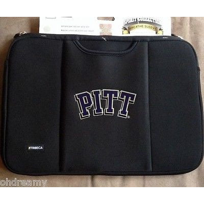 "Tribeca Pittsburgh Panthers Laptop Sleeve Neoprene Case 15"" 16"" Fva2561"